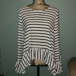 New a.n.a Long Sleeve Blouse